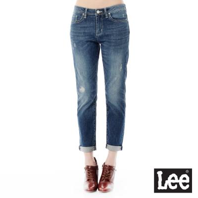 Lee 牛仔褲Jade Fusion冰精玉石 401中腰標準合身小直筒-女