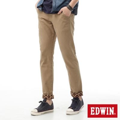 EDWIN 窄直筒 XV可反折休閒褲-男-灰卡其