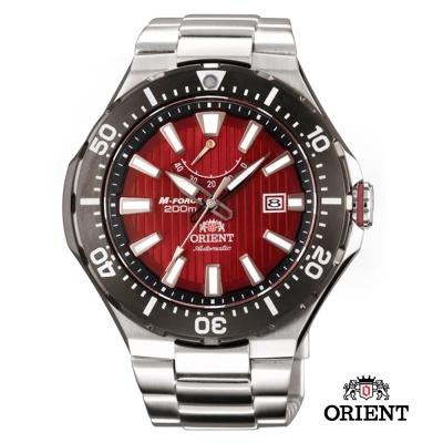 ORIENT東方錶 M-200m潛水機械錶-紅色/51mm