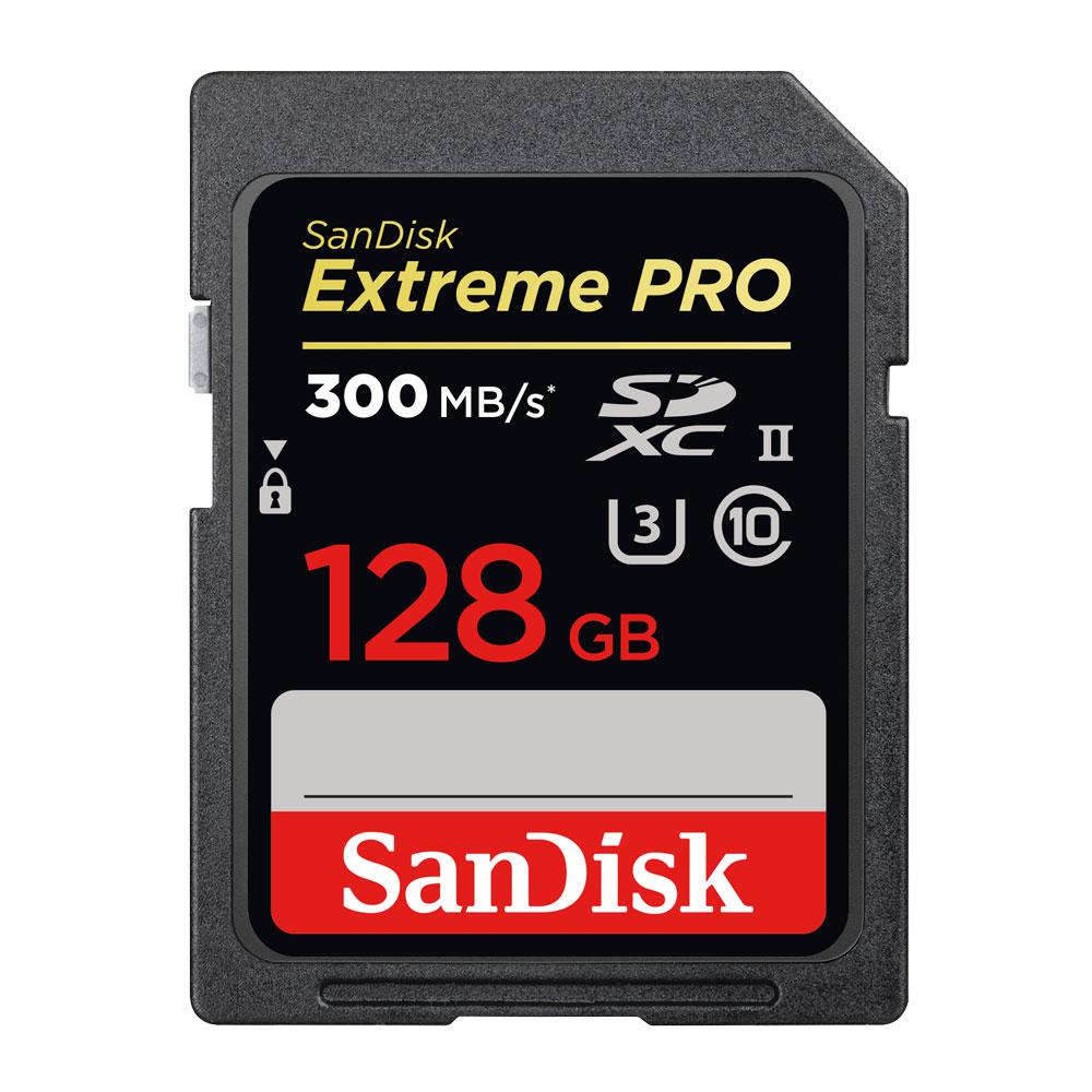 SanDisk ExtremePRO SDXC (U3) 記憶卡128GB 300MB-公