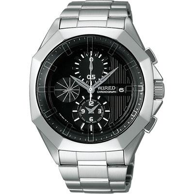 WIRED-宇宙探險家計時腕錶-AF8Q67X-黑-42mm