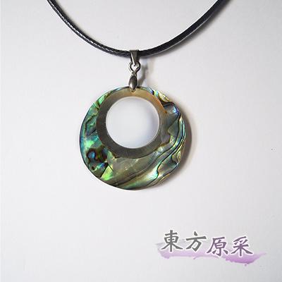 東方原采-自然系圓滿亮彩鮑魚貝項鍊