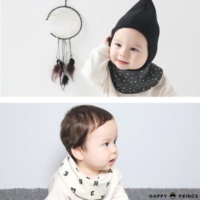 韓國 Happy Prince 字母星星印花雙面圍兜口水巾