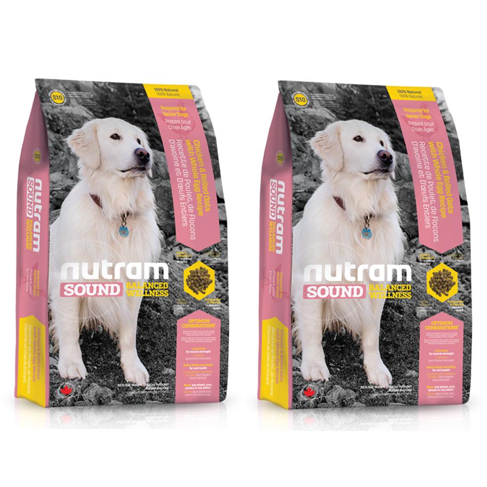 Nutram紐頓 均衡健康配方 - S10 老犬雞肉燕麥 2.72kg x 2包入