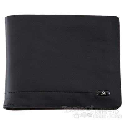 TONY PEROTTI 經典無車縫系列 公牛皮短夾 #2795 ( 黑色 )