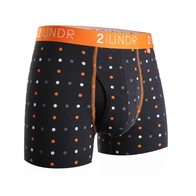 四角內褲 Swing Shift 莫代爾四角男內褲(3吋)-橘黑圓點 2UNDR