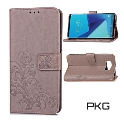 PKG SAMSUNG Galaxy S8 Plus皮套-側翻磁扣-精品灰