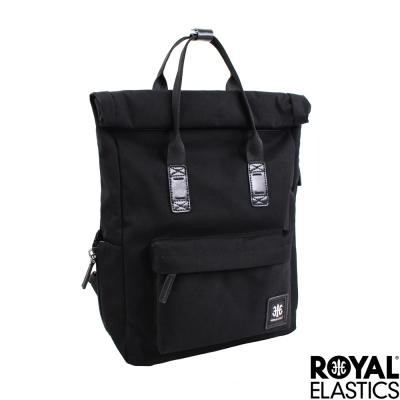 Royal Elastics - 捲蓋式小型後背包 - Rainbow彩虹甜心- 黑色