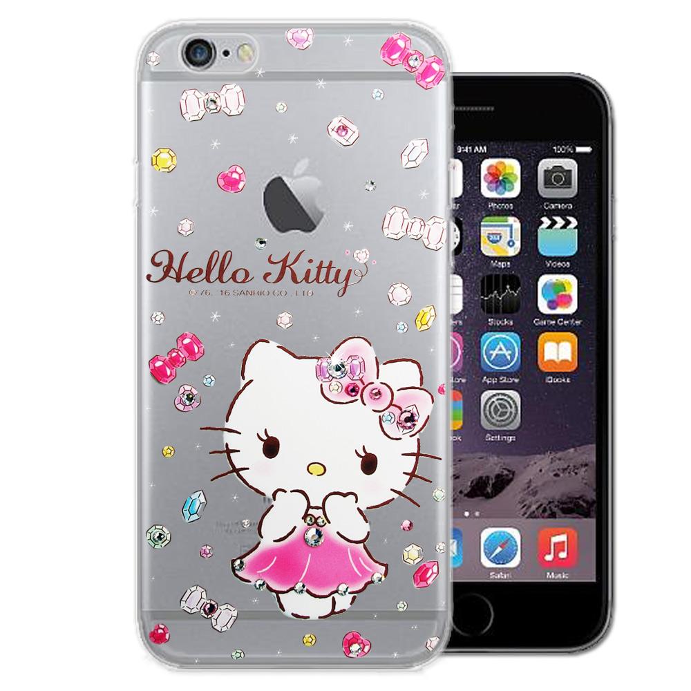 三麗鷗Hello Kitty iPhone 6s/6 4.7吋 水鑽系列手機殼(蓬裙凱蒂)