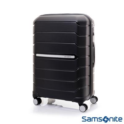 Samsonite新秀麗 25吋Octolite PP極輕量時尚雙輪TSA硬殼行李箱(黑)