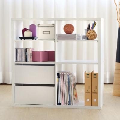 EASY HOME-加厚四格收納櫃附抽屜+活動板-白色(83.4x29x83.1cm)