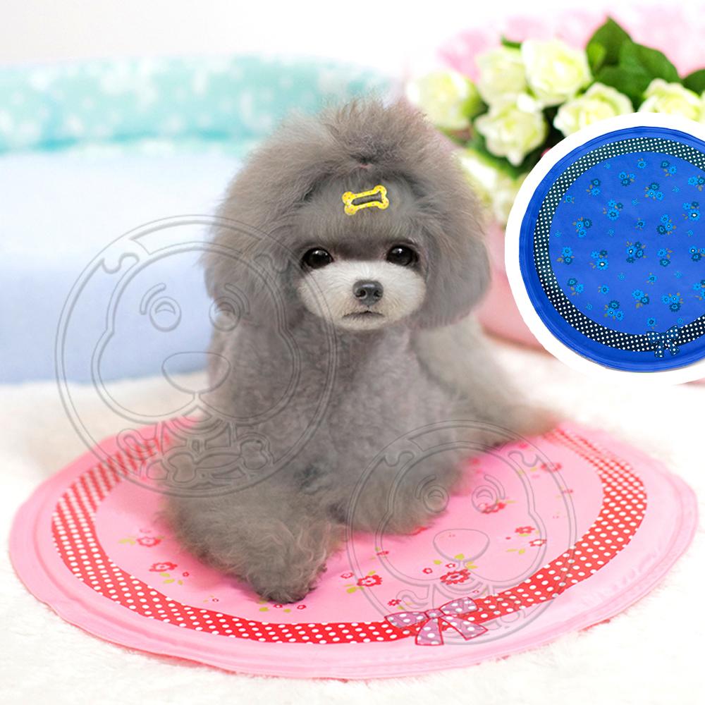 DYY》日系寵物可愛碎花圓形散熱涼墊40cm(適用小型犬貓)