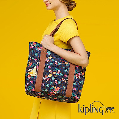 Kipling 手提包 Emoji 系列 夏日湛藍-大