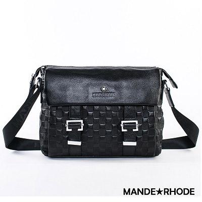 MANDE RHODE-威尼斯x棋盤格紋雙面掀蓋側背包(60742)