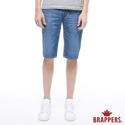 BRAPPERS 男款 HM-中腰系列-全棉五分褲-藍