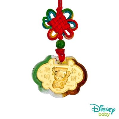 Disney迪士尼金飾 黃金/琉璃鎖片-聰明伶俐米奇款