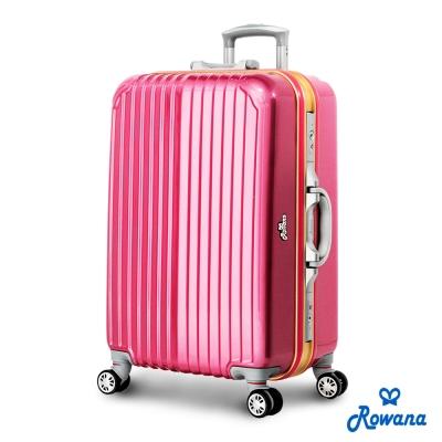 Rowana-金燦炫光PC鏡面鋁框行李箱-25吋