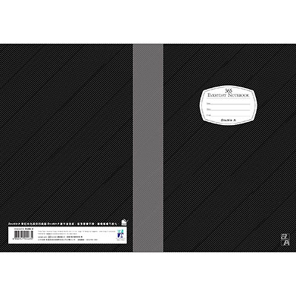 Double A  A5/25K膠裝筆記本-黑 (DANB14010)每日經典系列10本