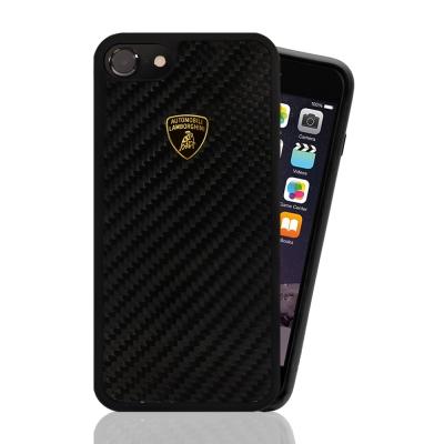 藍寶堅尼 原廠授權 iPhone 7  碳纖維 手機殼-卡夢黑