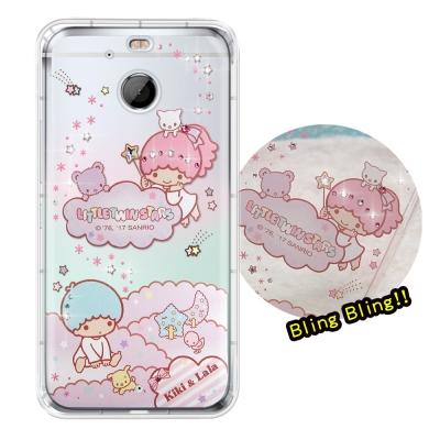 正版雙子星 HTC 10 EVO 5.5 吋 夢幻童話 彩鑽氣墊手機殼(雙子雲朵...
