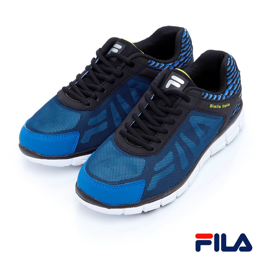 FILA男慢跑鞋-藍1-J906R-304