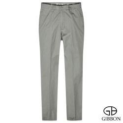 GIBBON 暗直紋輕棉平口休閒褲‧灰綠31~42