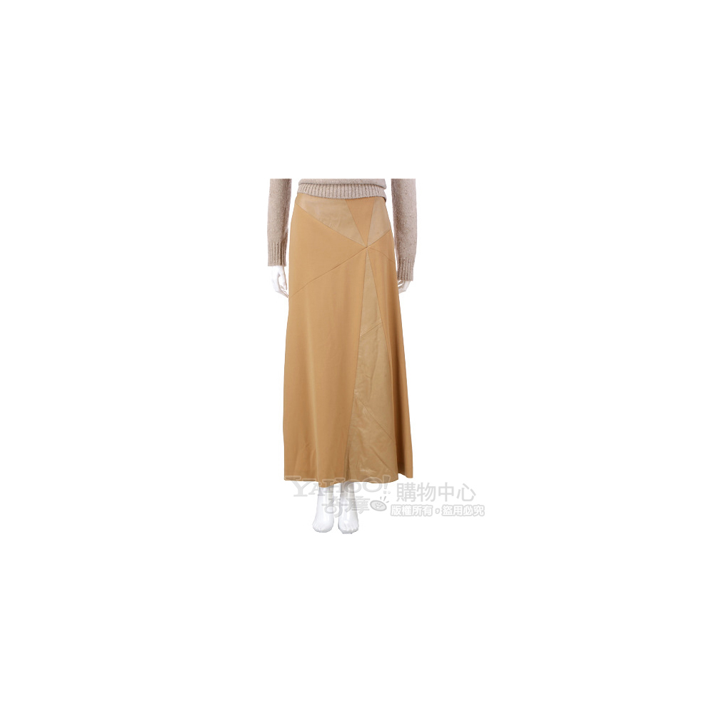 SIMULTANEOUS 駝色拼接設計長裙
