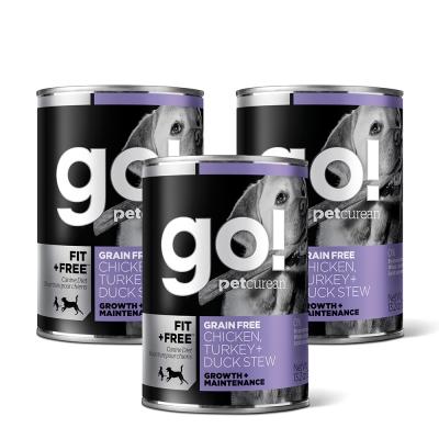 Go! 天然主食狗罐-品燉系列-無穀四種肉-12件組