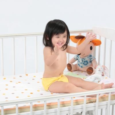 COTEX可透舒  嬰兒床圓點防水透氣舖巾  床包