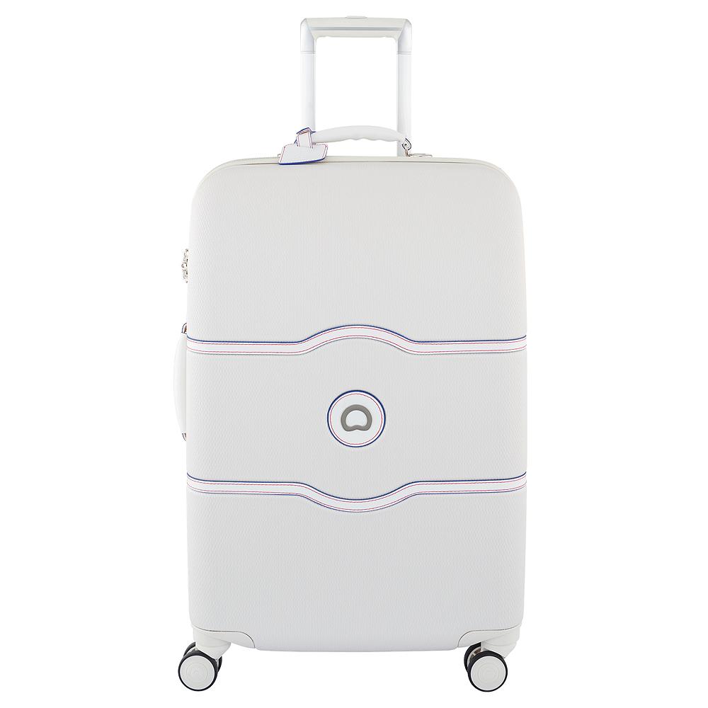DELSEY法國大使 CHATELET HARD  24吋拉鍊行李箱-白色