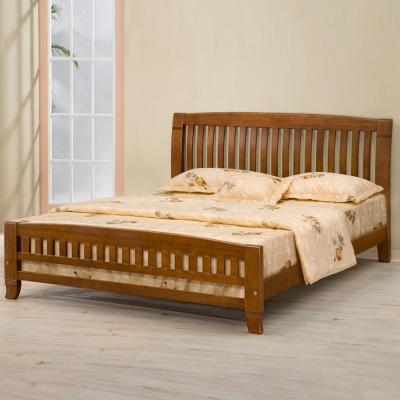 Homelike 亞倫實木床架-5尺雙人