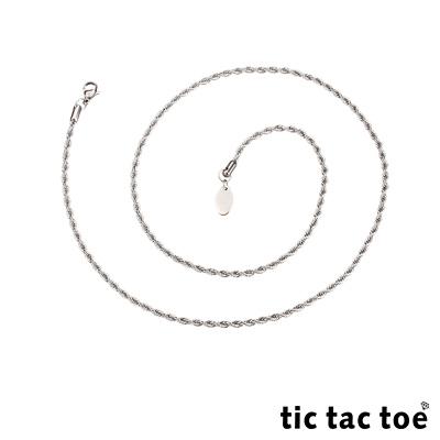 tic tac toe 白鋼造型單鍊-編繩(小)