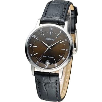 ORIENT 美好年代 時尚腕錶-巧克力色/31mm