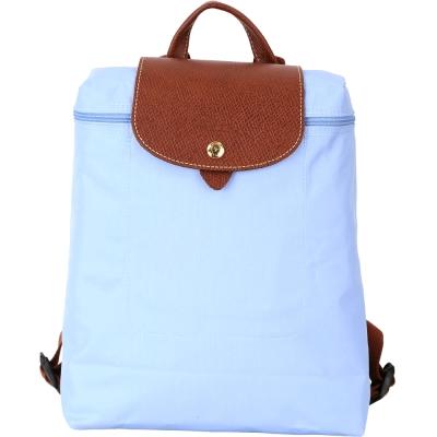 LONGCHAMP Le pliage 淺藍色尼龍折疊後背包(展示品)