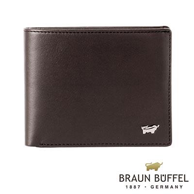 BRAUN-BUFFEL-HANS漢斯系列4卡零錢皮夾-摩卡棕