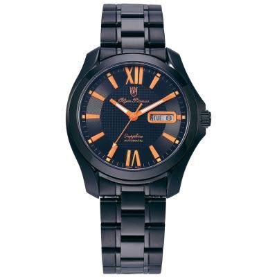 Olym Pianus 奧柏表 瑰麗雅緻機械錶-橘/40mm