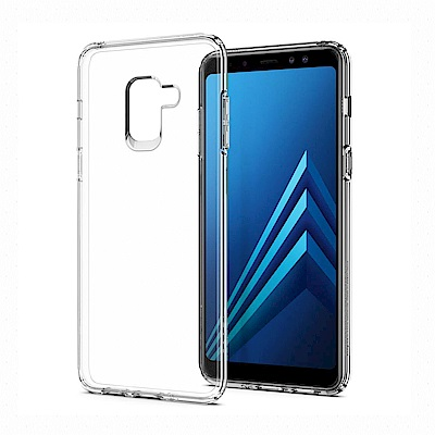 SGP Galaxy A8 (2018) Liquid Crystal-彈性保護殼-透明