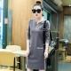 韓系 小開領雙口袋側條紋休閒洋裝(共四色)-