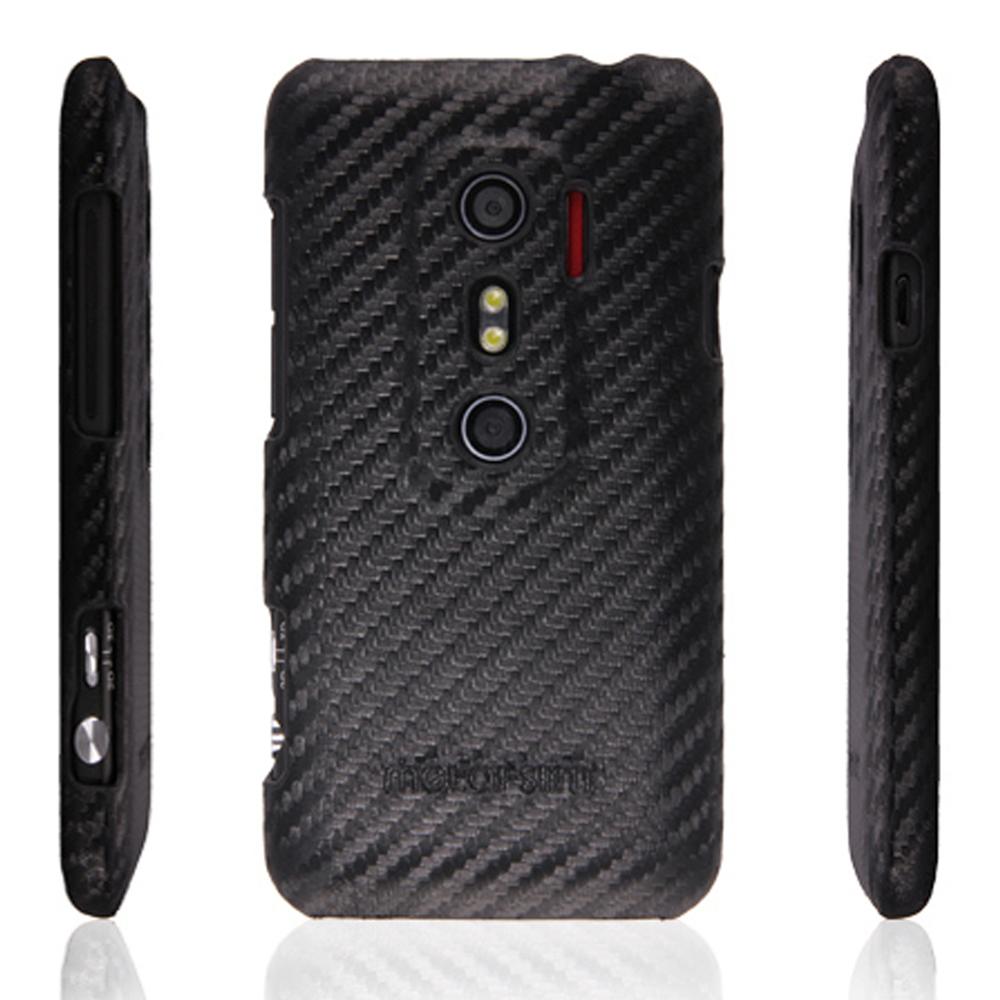 Metal-Slim  HTC shooter/EVO 3D保護殼 Carbon 紋