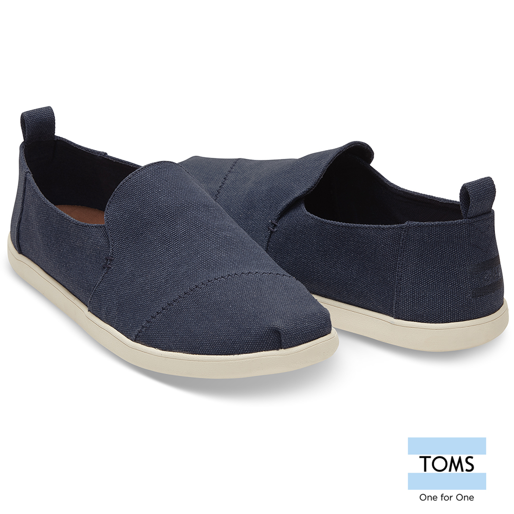 TOMS 水洗帆布懶人鞋-男款