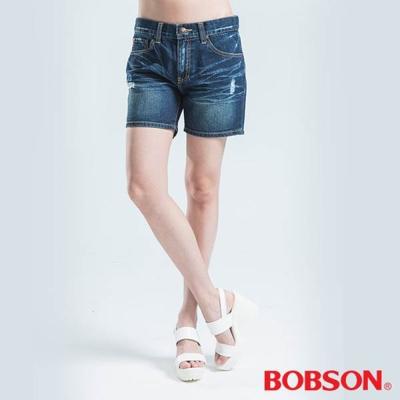 BOBSON-寬鬆男朋友短褲-藍色