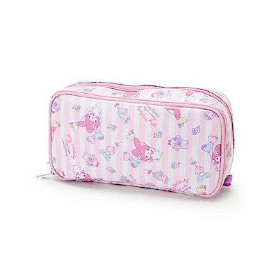 Sanrio 美樂蒂防潑水雙層筆袋/化妝包(氣球花籃)