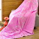 英國Abelia《淡雅花語-紫》木槳纖維涼被(5x6.5尺)