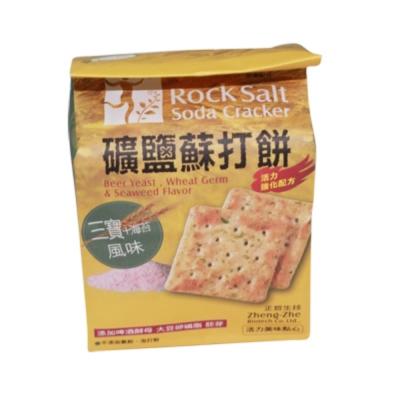 正哲 礦鹽蘇打餅-三寶海苔風味(122g/包)