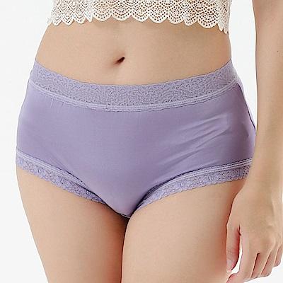 內褲 舒適系40針100%蠶絲中高腰三角內褲 (紫) Chlansilk 闕蘭絹