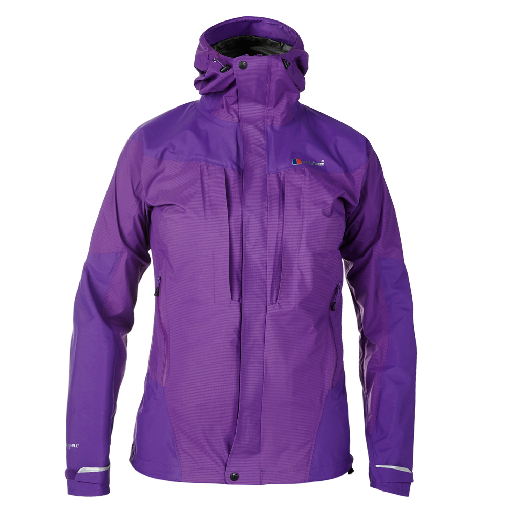 【Berghaus 貝豪斯】女款HS超輕防水透氣外套H22F20-紫