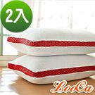 LooCa 時尚版透氣超釋壓獨立筒枕2入 紅