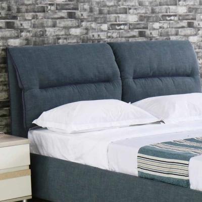 AT-HOME-艾德琳5尺灰藍布雙人床頭片
