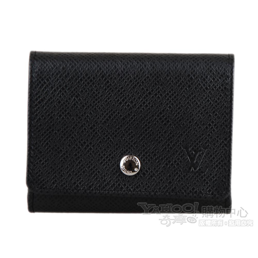LV M32562 經典Taiga系列皮革卡片零錢包