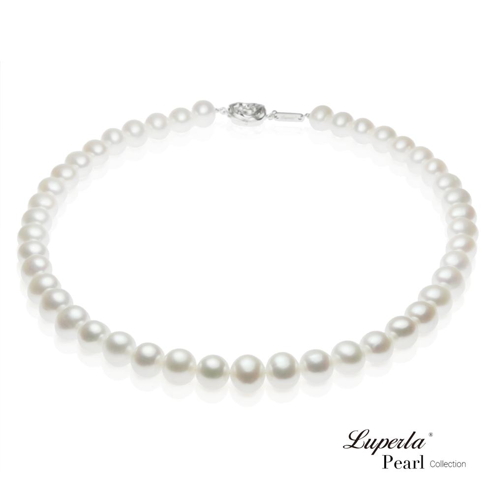 大東山珠寶 女王級天然淡水珍珠項鍊(白)
